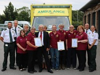 Patient reunion at Beverley Ambulance Station