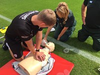 CPR training at Barnsley Football Club