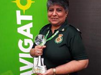 emergency medical dispatcher holding award