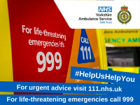 Ambulance plea to use 999 service wisely